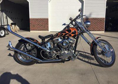 Custom Flame Bike