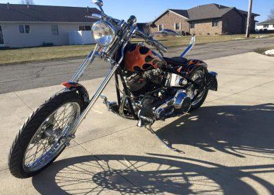 Custom Flame Motorcycle