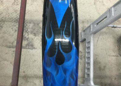 custom blue flame paint